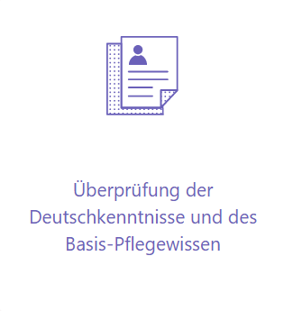 Deutschkenntnisse und Pflegewissen